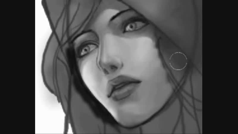 Скоростное рисование волшебницы Джайны Праудмур