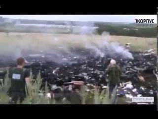 Место крушения малазийского Боинга под Донецком