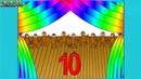 10 обезьянок Учим цифры Обратный счет
