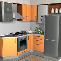 дизайн маленькой кухни вконтакте