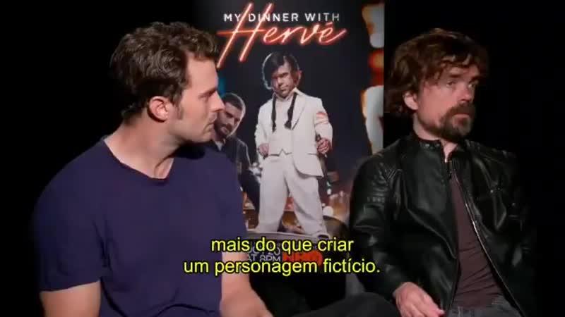 [LEGENDADO] Nova entrevista de Jamie e o cat de My Dinner with Hervé para @HBO_Brasil! JamieDornan [Parte 2]