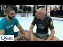 Brazilian Jiu Jitsu Discussion and Technique Escape Knee on Belly with Silver Fox Firas Zahabi