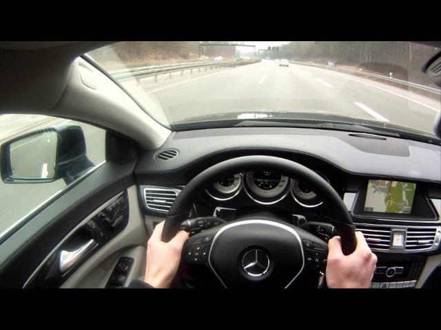 ' Mercedes-Benz CLS 500 ' POV Autobahn Test Drive - TheGetawayer