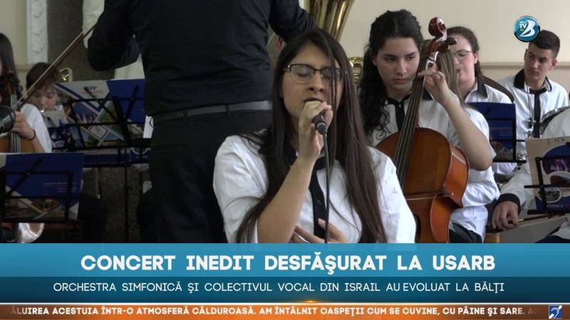 Concert inedit desfăşurat la USARB Orchestra simfonică şi colectivul vocal din Israil au evoluat la Bălţi