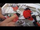 Вышивка лентами Снегири
