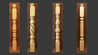 Series 3d model_ Leg table Wood Style 01
