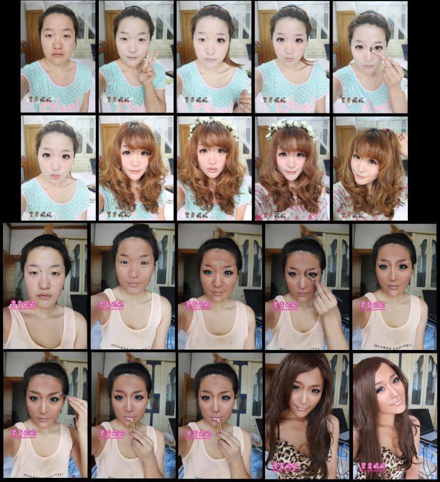 Фото размалеванные девки 1 фотография