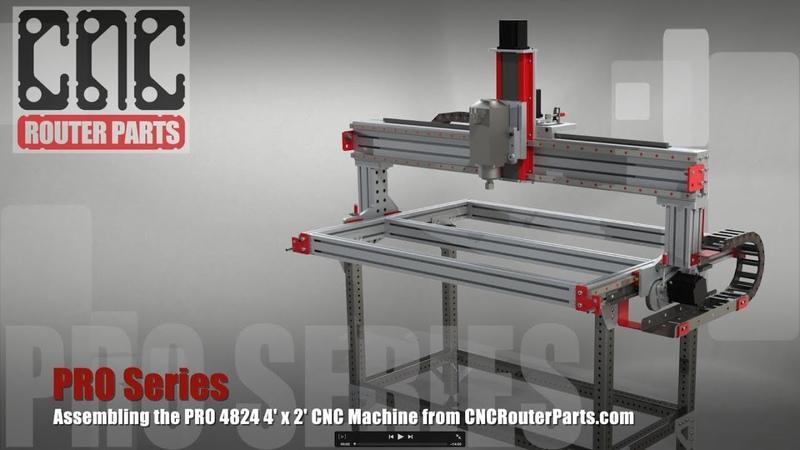 PRO Build Series: PRO4824 4' x 2' CNC Router Assembly Overview - Customer Build at TechShop Detroit