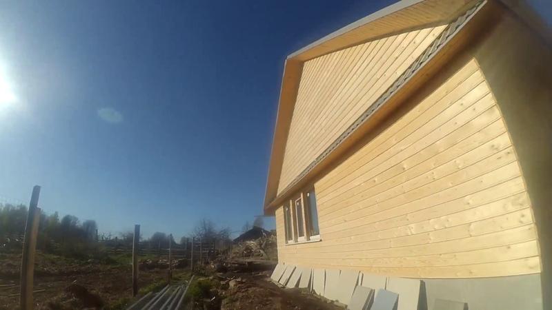 Дом из опилок просторный тёплый дешёвый Жизнь в деревне