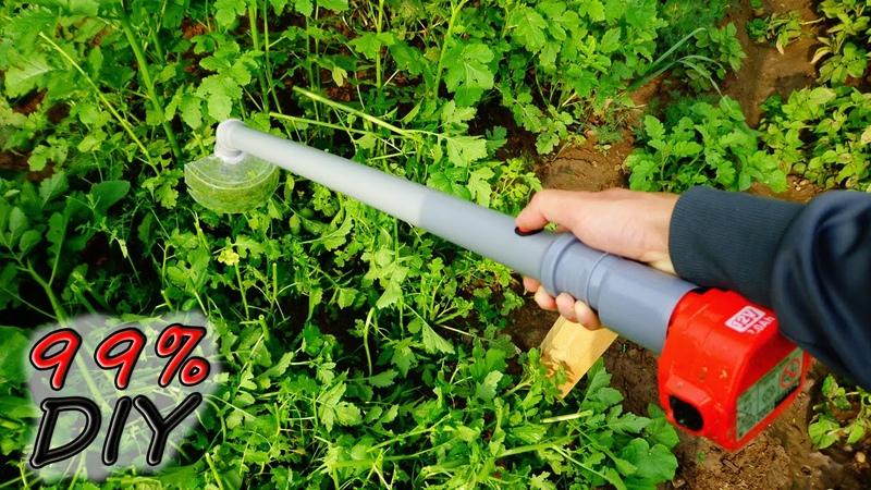 Как сделать электрокосу своими руками How to make Electrical Hand Grass Cutter Machine