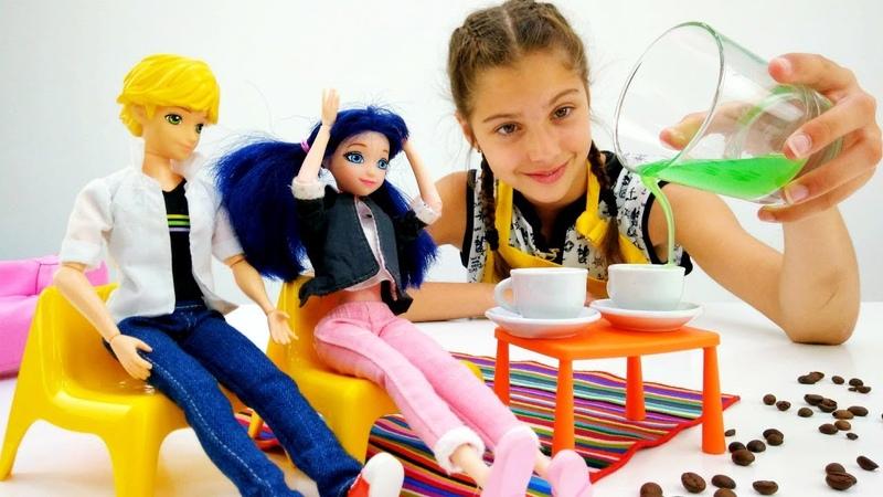 Игры для девочек Полен бариста Видео для девочек с Маринетт