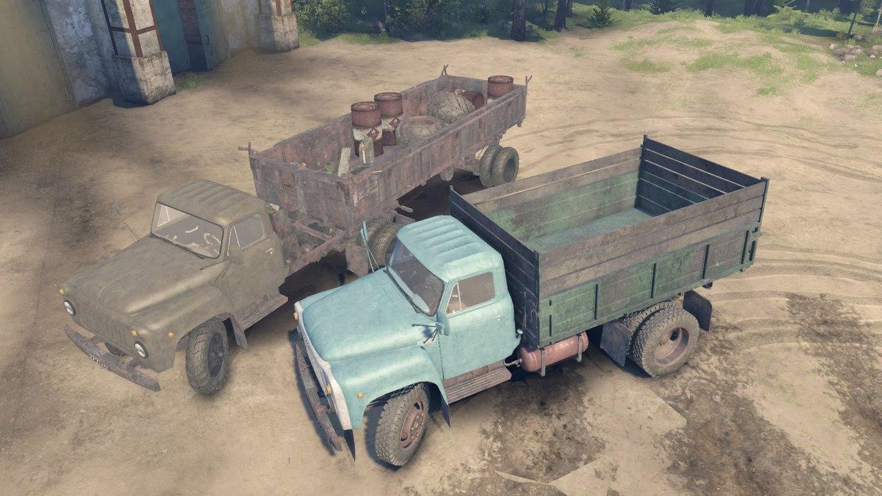 Пак автомобилей ГАЗ-52 и ГАЗ-53 для версии 13.04.15 для Spintires - Скриншот 2