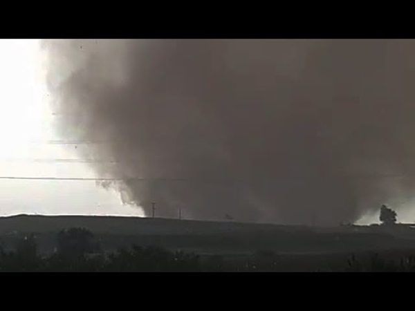 Large tornado west of Nicosia, Cyprus on October 21, 2018
