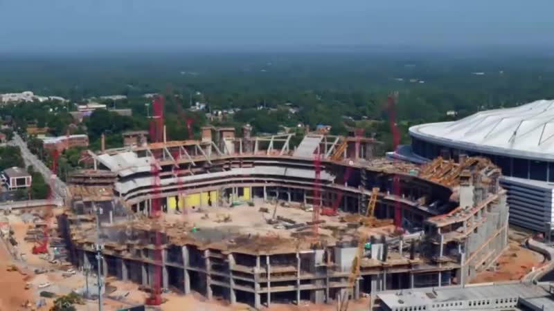 Time laps video showing the construction of mercedesbenz stadium at atlanta (1)