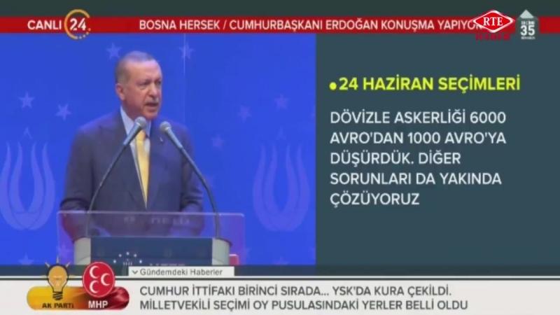 Cumhurbaşkanı Recep Tayyip Erdoğan, Bosna Hersek UETD 6. Olağan Genel Kurulu 20 Mayıs 2018