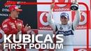 Первый подиум Роберта Кубицы в Формуле 1