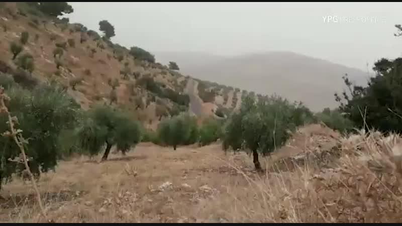 Сирия.20-10-2018.Курды подорвали пикап протурецких боевиков в районе Африна