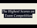 The Highest Scores on Team Competition 2009 2012 Quad