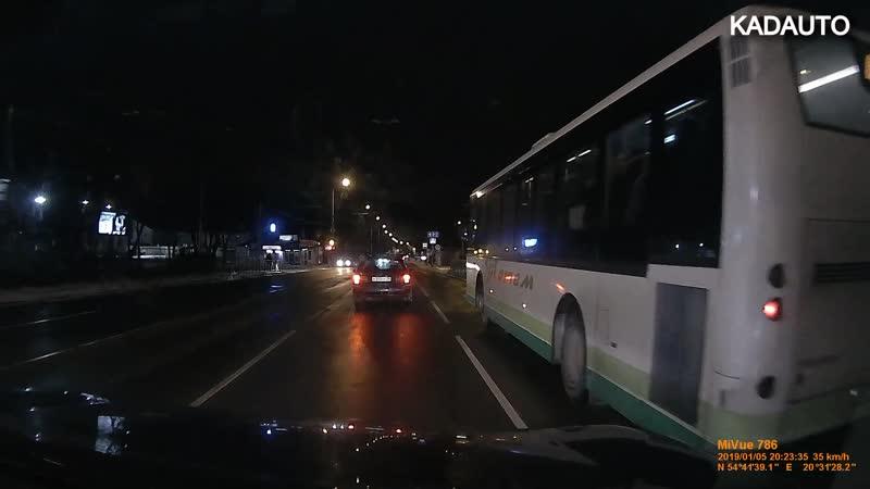 Борьба за пассажира по-калининградски. Ул. Дзержинского. 05.01.19