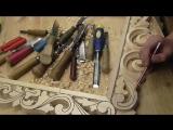 Резная рамка под зеркало первая часть, резьба по дереву.