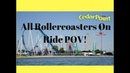 All Cedar Point Rollercoasters On Ride Point Of Views