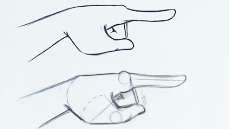 How to Draw the Finger Pointing (Step by Step)