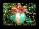 Новогодний шарик Как разделить пенопластовый шарик на равные части