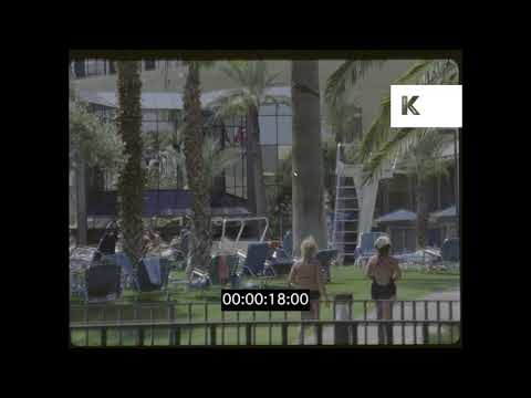 1970s, 1980s Hotel Swimming Pool, Las Vegas, HD