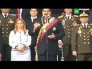 Взрыв раздался во время речи Николаса Мадуро на параде