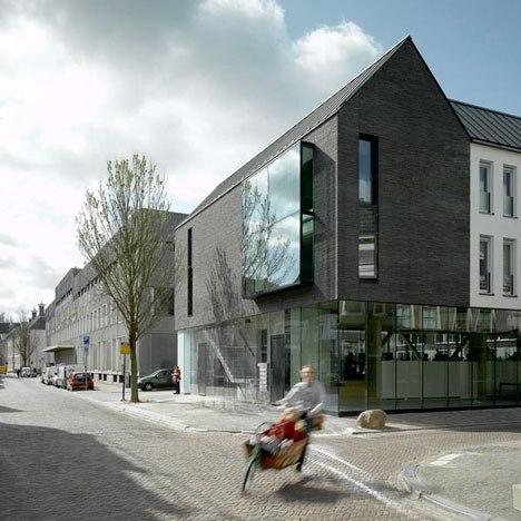 Brick-clad apartments in Utrecht, the Netherlands /Bakers Architecten.
