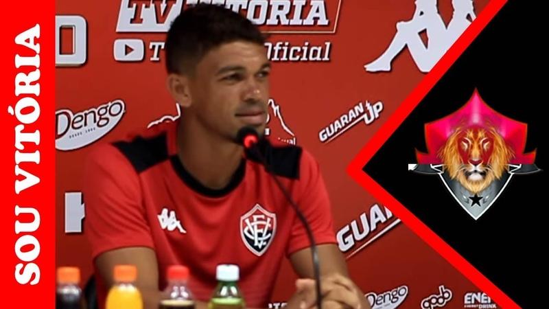 """Em coletiva: Van se declara torcedor do Vitória e diz: """"Enfim chegou o dia da estreia"""""""