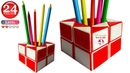 Rubik's snake Pencil Stand 24 piece. Snake puzzle shapes Pen Stand. Magic Rubik snake twist pattern