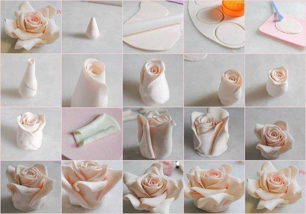 Роза из полимерной глины (1 фото) - картинка