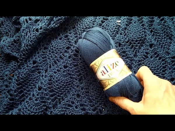 Платье крючком Узор Ананас Почему фолдит кокетка Обзор на пряжу Alize DIVA