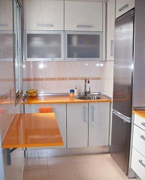 Откидной столик для маленькой кухни #DIY_Идеи