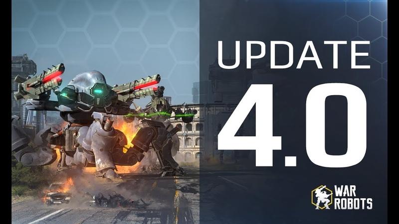 WAR ROBOTS 4.0 🔥 👉 GAME CHANGER WR update 👈 HEALING ROBOTS, new event, map ROME, BOOSTERS MORE!