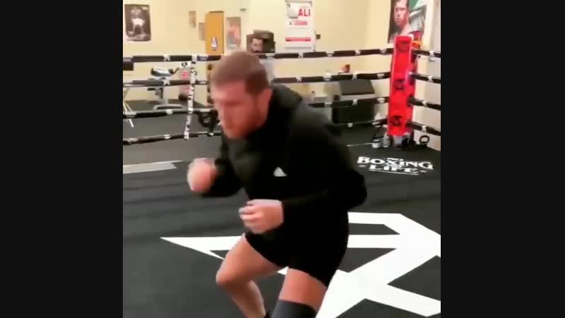Канело - открытая тренировка подготовка к бою с Рокки Филдинг