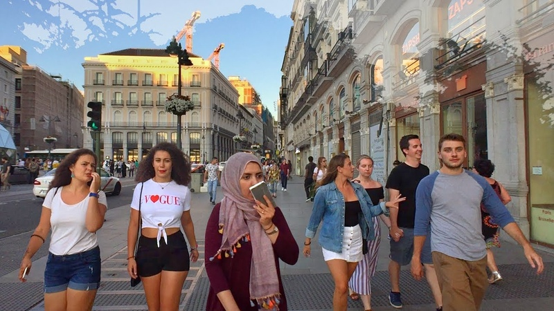 🇪🇸 MADRID WALK to Cybele Fountain and Palace from Sol incl. Alcalá Gate | SPAIN