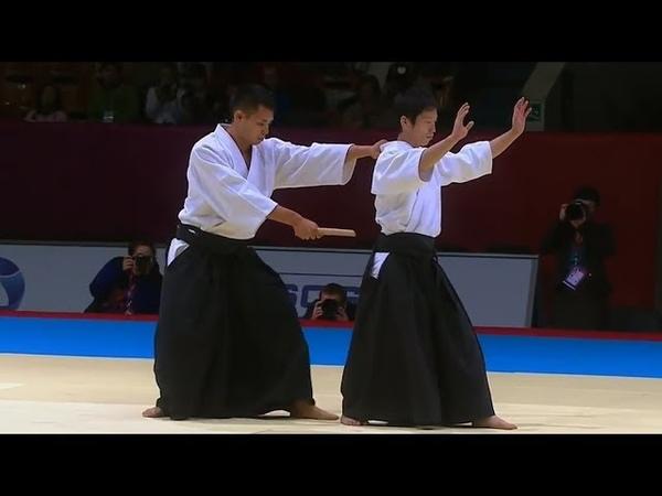 合気道世界大会2013【短刀取り】 日本代表演武 白川竜次 - 阿部宗玄 Aikido World Combat Games 201