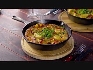 Режем картофель, обжариваем и в духовку. Самый простой и вкусный рецепт к ужину!