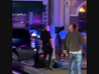 Kodak black ends up in cuffs outside hollywood nightclub