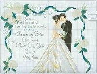 А у кого есть схемы вышивок на свадебную тематику.  И это могут быть не только картины и панно, можно же и подушечку...