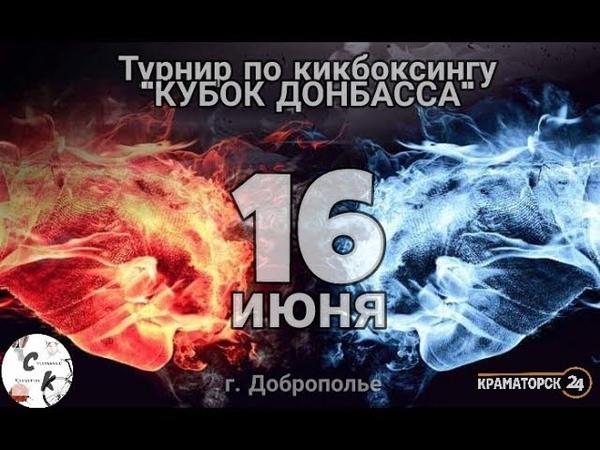 В Доброполье прошел открытый Турнир по кикбоксингу Кубок Донбасса
