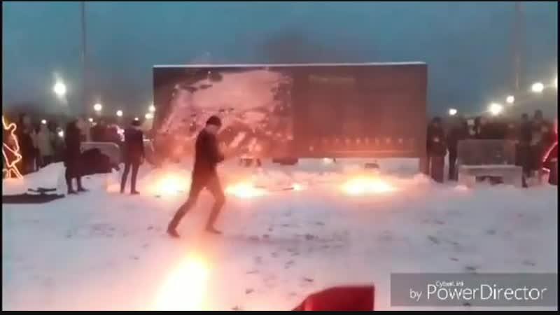 Фаер-шоу 6 января 2019 в Парке Спутника