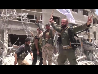 Вступление сил Национальной обороны в палестинский лагерь Ярмук на юге Дамаска