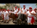 Hemingway look-alikes do mock running of the bulls in Key West