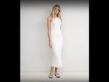 Новое платье макси белого цвета ASOS
