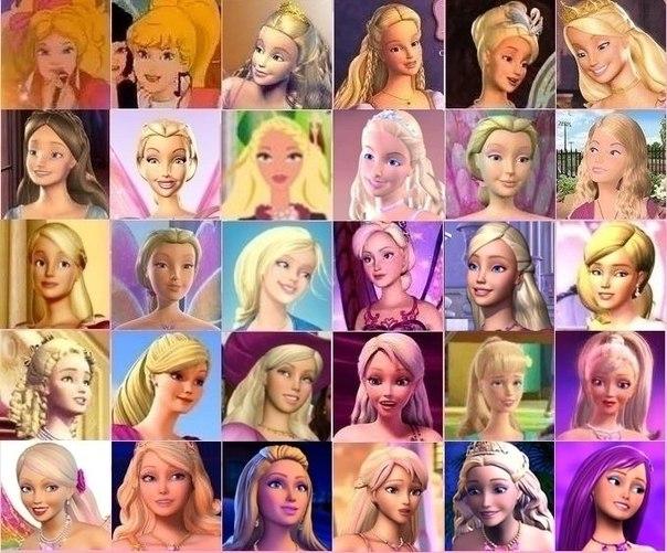 Барби разных годов