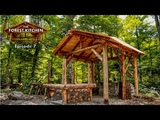 The Forest Kitchen, Ep 7 Clay Pizza Oven Foundation at the Off Grid Log Cabin