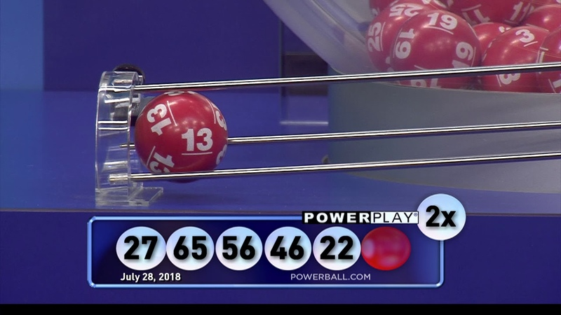 Powerball Red Ball 20180728